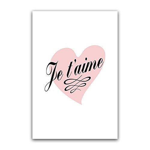 Je t'aime Heart, French Modern Minimalist Decor Nursery Wall