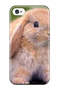 Case Cover Brown Rabbit On A Stump/ Fashionable Case For Iphone 4/4s