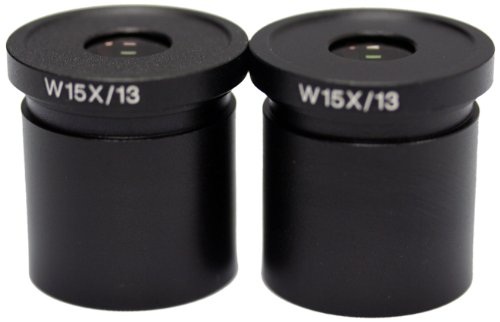 National Optical 615-400 WF15x Eyepiece, For 400, 405, 409, 415, 420/420T, 430, 446, 450, 456 and 460 Microscopes (Pack of 2) by National Optical