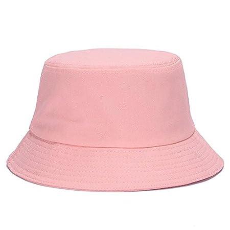 a3544454aaf Brolux(TM) 1 PC Panama Hats for For Women Unisex Bucket Hat Men Portable  Foldable Flat Solid Color Diy Bob Sun Hat Visor Summer Autumn 2017  Pink     ...