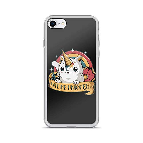 (iPhone 7/8 Pure Clear Case Cases Cover Call Me Unicorn Cute Cat)