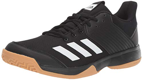 adidas Women's Ligra 6 Volleyball Shoe, Black/White/Gum, 9.5 M US