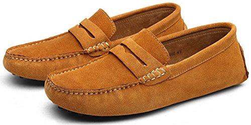 49 2 Zapatos Para 38 Marrón Joomra Claro Mocasines Hombre 1XRfTqFn