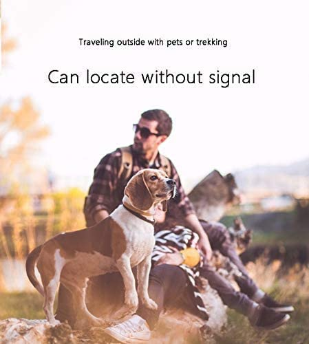犬の首輪ペットトラッカー場所、良い追跡ミニポータブルBluetoothデバイス-realベルトラッカー、耐水性(新モデル) - 金,ゴールド