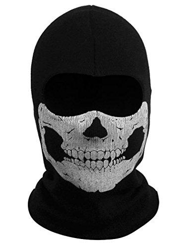 Coxeer® Geister Schädel-Maske Balaclava Hood Ghosts Skull Mask Outdoor Sports Skilaufen Wandern Full Face Mask for Men Maske für Männer (Model 6)