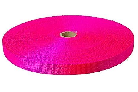 Neon Pink Heavy Nylon Webbing