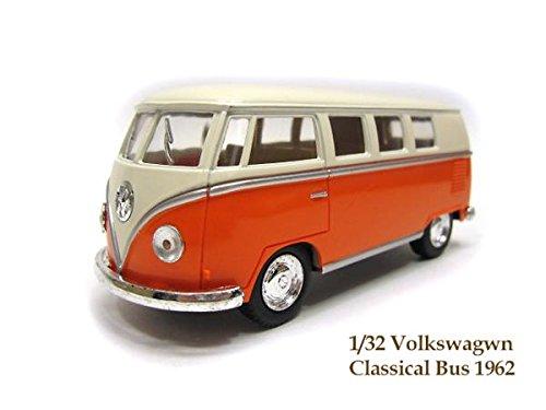 フォルクスワーゲン クラシックバス 1962 1/32 オレンジ アイボリートップ ミニカー
