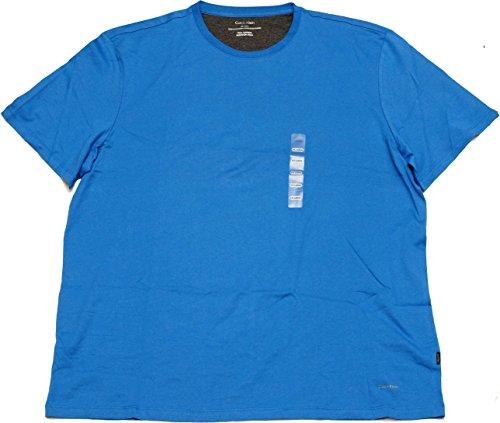 Price comparison product image Calvin Klein Men's Pima Cotton Crew Neck Short Sleeve T-Shirt (XX-Large,  Daphne Blue)