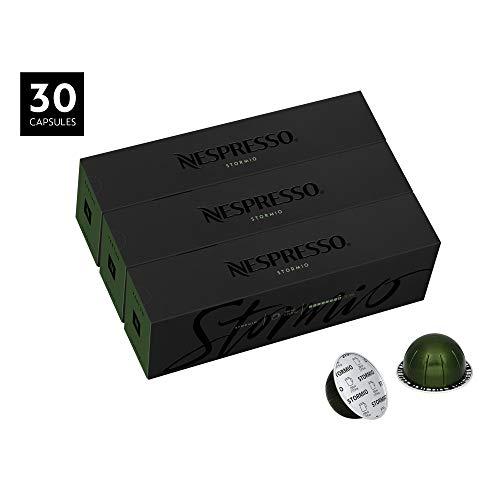 Coffee 30 Capsules - Nespresso VertuoLine Coffee, Stormio, 30 Count