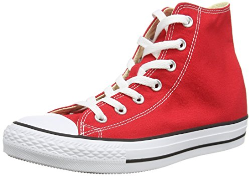 Converse Unisex Chuck Taylor All Star Classic High Top Shoes, Red, 6 US Men/8 US Women