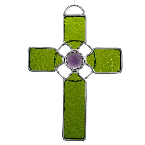 American Made Celtic Cross Art Glass Sun-Catcher
