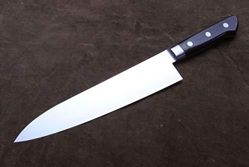 Yoshihiro Ginsan-Ko High Carbon Stain Resistant Steel Gyuto Japanese Chefs Knife with Nuri Saya Cover (8.25'' (210mm)) by Yoshihiro (Image #4)