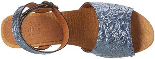 Donna Cinturino Square Scarpe Con Sandal T Sanita Col Tacco Blu A Flex sky Birka