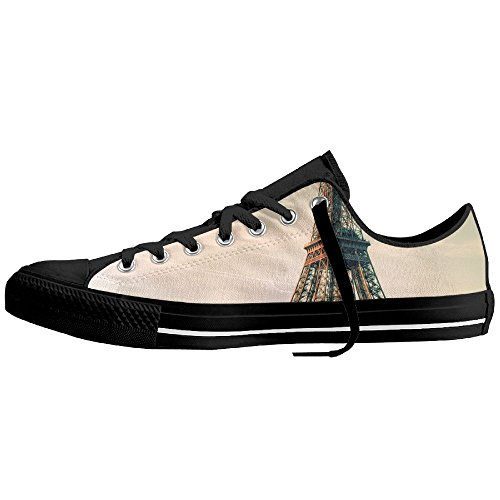 Eiffel Tower Low-Cut Canvas Shoes Unisex Sneaker-All Season Casual Trainers For Men And Women ColourName (Circus Animal Trainer Costumes)