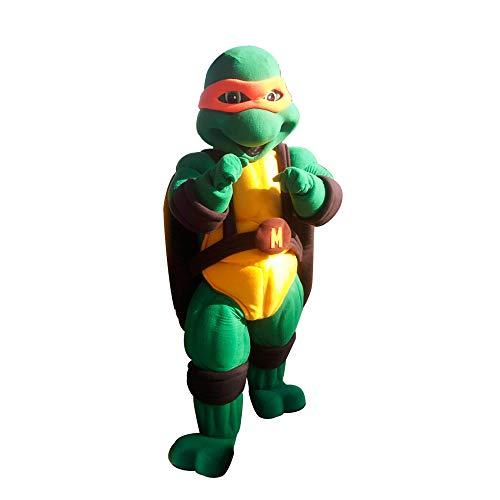 Orange Ninja Turtle Michaelangelo Mascot Costume Character Party Birthday Halloween -