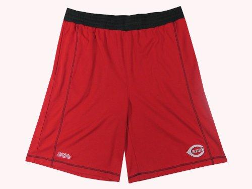 MLB Cincinnati Reds Adult 2 Pocket Shorts, Red, (Cincinnati Reds Mens Shorts)