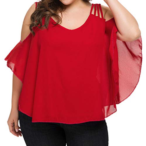 Londony Women Plus Size Short Sleeve Flare Peplum Blouse Top Casual Scoop Collar Plus Size T Shirts Summer Tops Tee