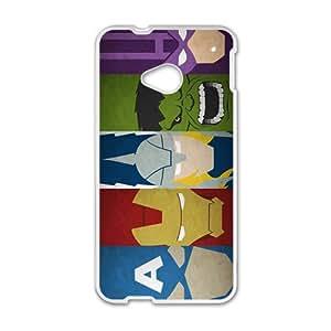 Super Heros White HTC M8 case