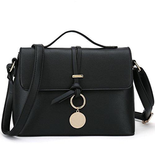 Stylish Cross Body Purses For Women Fashion Shoulder Bag Ladies Desinger Handbag (Black)