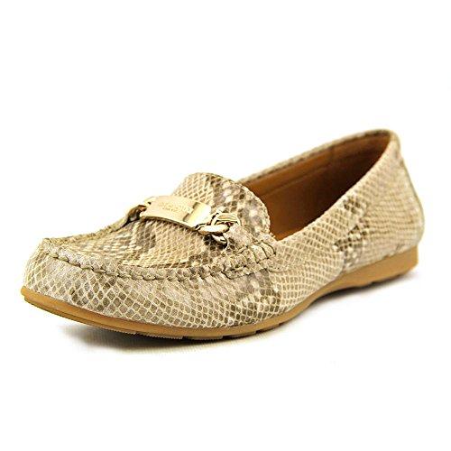 [COACH Women's Olive Natural Sand Printed Snake Loafer 6.5 M] (Dress Loafer Beef Roll)