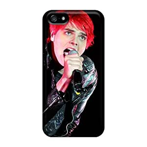 Scratch Resistant Hard Phone Cover For Iphone 5/5s With Allow Personal Design Lifelike My Chemical Romance Band Image JohnPrimeauMaurice