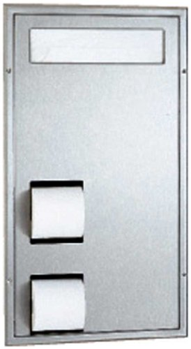 Bobrick 3471 ClassicSeries 304 Stainless Steel Partition Mounted SeatCover and Toilet Tissue (Bobrick Toilet Partitions)