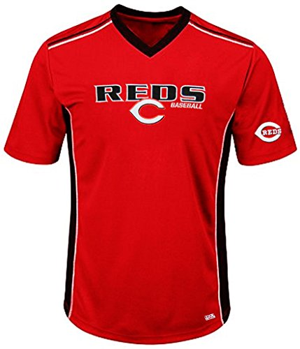 VF Cincinnati Reds MLB Mens Cool Base Performance V Neck Jersey Red Big Sizes (3XL)