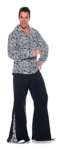 Men's Retro Hippie Costume - Funky, Black/White, XX-Large (Adult Austin Powers Costume)