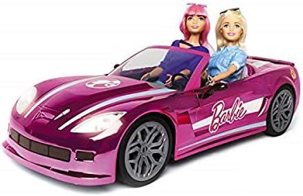 Mondo-63619 Mattel BARBBIE Dream Car vehículo teledirigido, Color Rosa, 63619