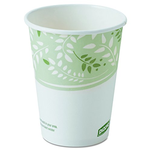 Dixie 2338PLA EcoSmart Hot Cups, Paper w/PLA Lining, Viridian, 8 Oz, Packs of 50 Cups (Case of 20 Packs)