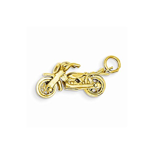 14k Motorcycle Charm, Best Quality Free Gift Box