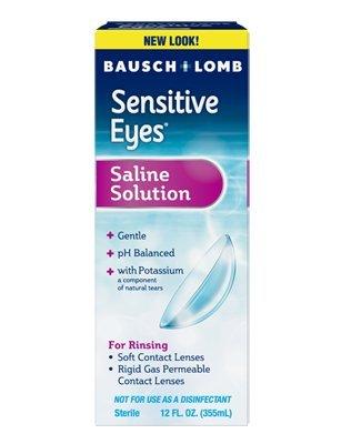 Bausch & Lomb Sensitive Eyes Plus Saline Solution 12 oz (Pack of 2)