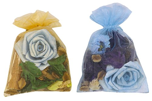 2 Packs 20 Grams Pack Scented Potpourris with Sola Stem and Flowers (Seashell Potpourri)