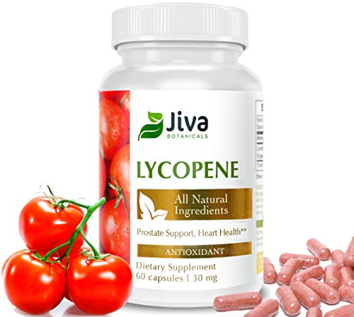 Lycopene 30 mg – All Natural Prostate Supplements for Men. Promotes Heart Health and Immunity. Menopause and Bone Health Support. Non GMO – by Jiva Botanicals