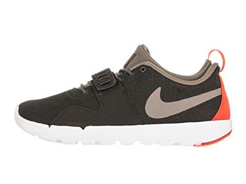 Nike Trainerendor Mens Skateboard-shoes Last Khaki / Naturligt Oliv / Ljusa Crimson
