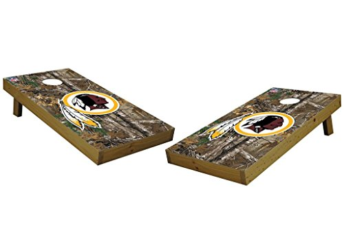 PROLINE NFL Washington Redskins 2'x4' Cornhole Board Set with Bluetooth Speakers - Xtra Camo Design by PROLINE