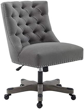 Linon Tevan Office Chair Grey