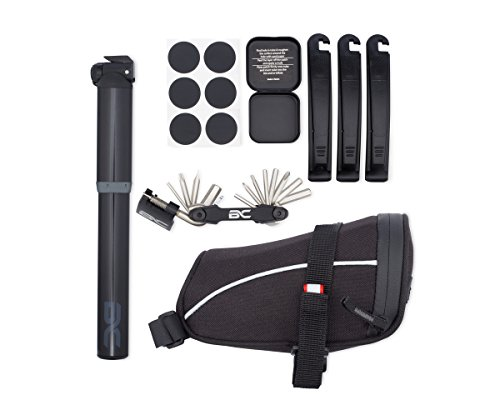 Bike Repair Kit by BC Bicycle Company - Mini Pump - Multitool - Patch Kit -Tire Levers - Seat Bag - Complete Set for MTB Road Hybrid