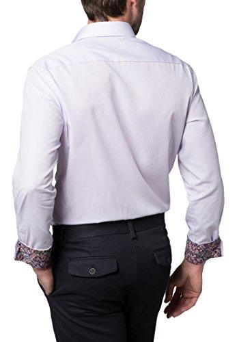 ETERNA long sleeve Shirt MODERN FIT Poplin checked lila