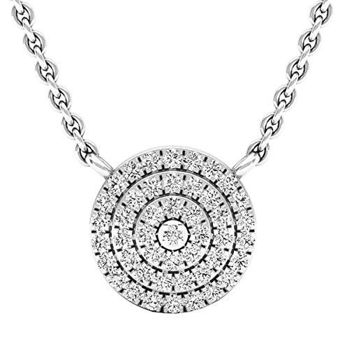 0.25 Carat (ctw) Round Diamond Flower Cluster Ladies Pendant 1/4 CT, 14K White Gold