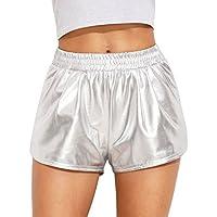 sweatyrocks Plata de la mujer Yoga Hot Shorts