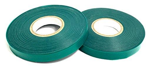 2 Rolls - Green Roll Plant Sturdy Stretch Tie Tape, 0.5 Inch Wide by 200Feet Long