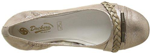 Dockers by Gerli Damen 34je219-630560 Geschlossene Ballerinas Braun (Bronze 560)