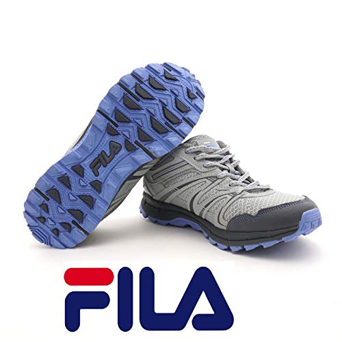 Fila Northampton Women's Trail Running Hiking Shoes (7.5) Grey/Light Blue