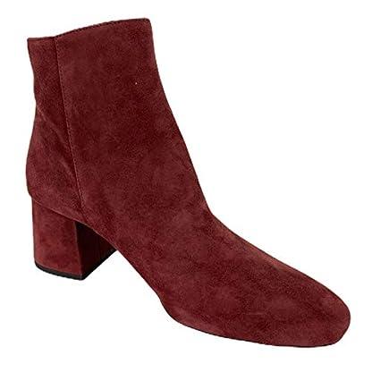 Michael Kors D22 Tronchetto Donna Bordeaux Suede Boots Women 2