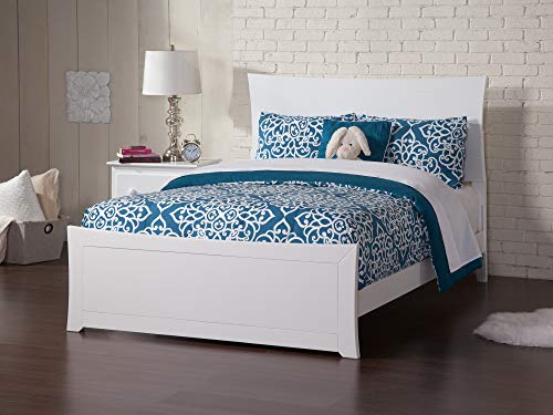 Atlantic Furniture AR9036032 Metro Traditional Bed with Matching Foot Board, Full, White from Atlantic Furniture