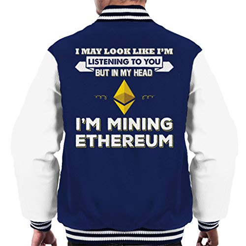 To To My Look Look You Jacket Mining White Head Navy Varsity in But Like Listening Im Ethereum I Im May Men's 4wRXHH