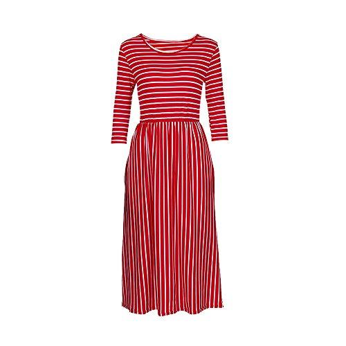 Verano Verano Maxi TM Fiesta Noche W1 Elegante de Maxi rojo Damark Playa 8 Boda Vestidos Falda de Noche Largos Mujer Largo Boho Vestido Mujer Sundress Mujer Vestido Casual Playa dxaw0tzqw