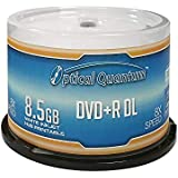 Optical Quantum OQDPRDL08WIP-H 8 X 8.5GB DVD+R DL White Inkjet Printable Double Layer Recordable Blank Media , 50-Disc Spindle
