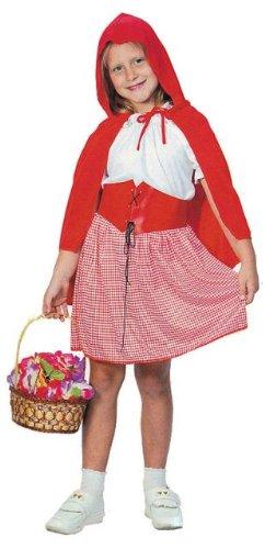Children's Little Red Riding Hood Costume Uk (Little Red Riding Hood Childs Fancy Dress Costume M 134cms)